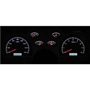 Dakota Digital 90-92 Chevy Camaro Analog Gauges Silver White VHX-90C-CAM-S-W