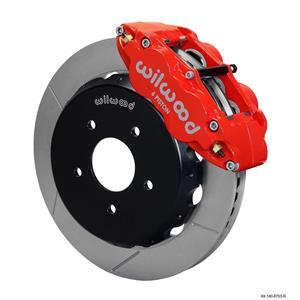 "Wilwood 04-06 GTO Front Disc Big Brake Kit 13.06"" Plain Rotor Red Caliper"