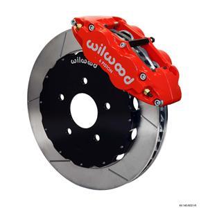 "Wilwood 97-04 C5 Corvette Front Disc Big Brake Kit 13"" Plain Rotor Red Caliper"