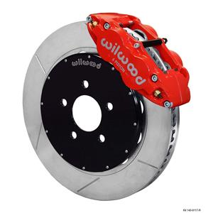 "Wilwood 94-04 Mustang Front Disc Big Brake Kit 14"" Plain Rotor Red Caliper"