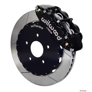 """Wilwood 94-04 Mustang Front Disc Big Brake Kit 12.88"""" Plain Rotor Black Caliper"""