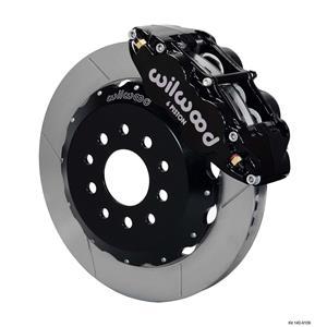 """Wilwood 05-10 Mustang Front Disc Big Brake Kit 13"""" Plain Rotor Black Caliper"""