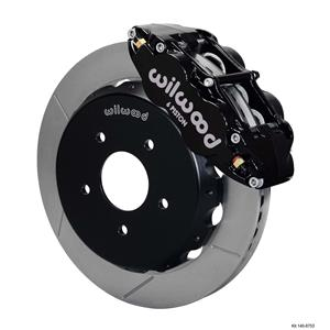 "Wilwood 04-06 GTO Front Disc Big Brake Kit 13.06"" Plain Rotor Black Caliper"