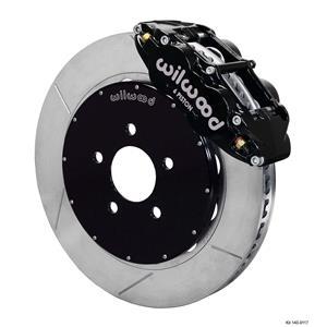 """Wilwood 94-04 Mustang Front Disc Big Brake Kit 14"""" Plain Rotor Black Caliper"""