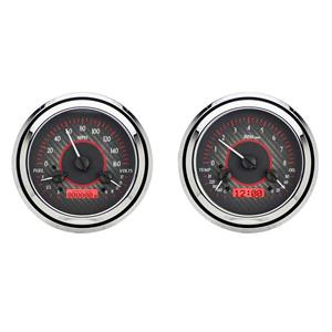 1954 Chevy Truck VHX System, Carbon Fiber Face - Red Display