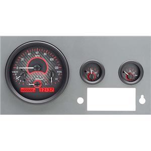 55-86 Jeep CJ VHX System, Carbon Fiber Face - Red Display