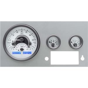 55-86 Jeep CJ VHX System, Silver Face - Blue Display