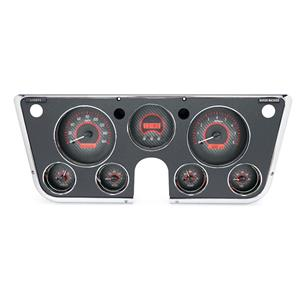 Dakota Digital 67-72 Chevy Truck Analog Gauges Carbon Fiber Red VHX-67C-PA-C-R