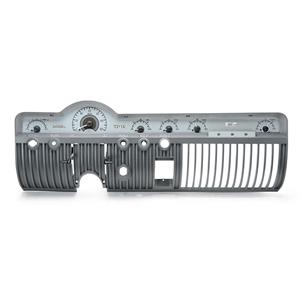 Dakota Digital 50 51 Mercury Analog Dash Gauges Silver Alloy White VHX-50M-S-W