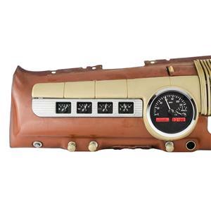 Dakota Digital 42-48 Ford Merc Car Analog Gauges Black Alloy Red VHX-42F-K-R