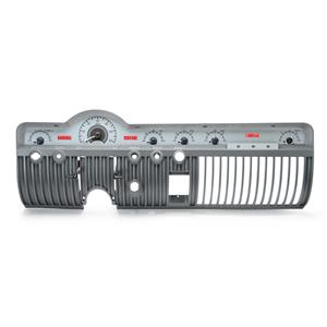 1950-51 Mercury VHX System, Satin Alloy Style Face, Red Display