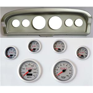 61-66 Ford Truck Silver Dash Carrier Concourse Silver Face Gauges