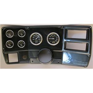 84-87 Chevy Truck Carbon Dash Carrier w/ Auto Meter Carbon Fiber Gauges