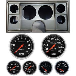 82-88 Chevy G Body Silver Dash Carrier Auto Meter Sport Comp Mechanical Gauges