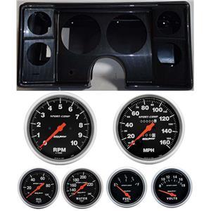 82-88 Chevy G Body Carbon Dash Carrier Auto Meter Sport Comp Mechanical Gauges