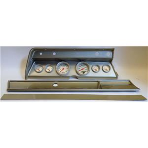 66 Chevelle Silver Dash Carrier w/ Auto Meter Ultra Lite Electric Gauges