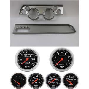 67-68 Cougar w/AC Silver Dash Carrier w/ Auto Meter Sport Comp Mechanical Gauges