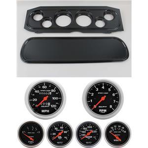 69-70 Cougar Carbon Dash Carrier w/ Auto Meter Sport Comp Mechanical Gauges