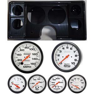 82-88 Chevy G Body Carbon Dash Carrier w/Auto Meter Phantom Mechanical Gauges