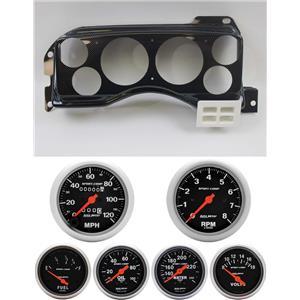 87-89 Mustang Carbon Dash Carrier w/ Auto Meter Sport Comp Mechanical Gauges