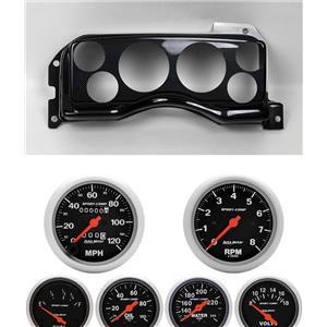 90-93 Mustang Carbon Dash Carrier w/ Auto Meter Sport Comp Mechanical Gauges