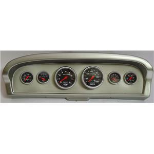 61-66 Ford Truck Silver Dash Carrier w/Auto Meter Sport Comp Mechanical Gauges