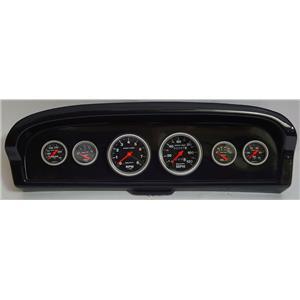 61-66 Ford Truck Carbon Dash Carrier w/Auto Meter Sport Comp Mechanical Gauges