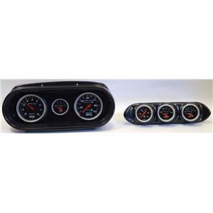 62-64 Nova Carbon Dash Carrier w/Auto Meter Sport Comp Mechanical Gauges
