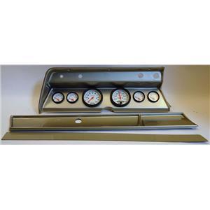 66 Chevelle Silver Dash Carrier w/ Auto Meter Phantom Electric Gauges