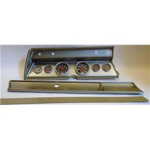 66 Chevelle Silver Dash Carrier w/ Auto Meter Sport Comp Mechanical Gauges