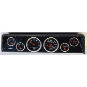 66 67 Nova Carbon Dash Carrier w/Auto Meter Sport Comp Mechanical Gauges