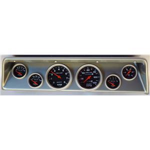 66 67 Nova Silver Dash Carrier w/ Auto Meter Sport Comp Mechanical Gauges