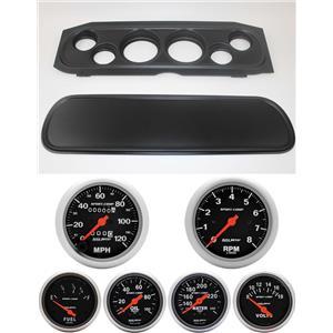 69-70 Cougar Black Dash Carrier w/ Auto Meter Sport Comp Mechanical Gauges