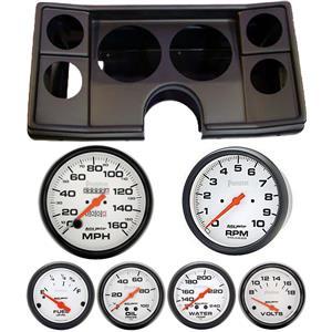 82-88 Chevy G Body Black Dash Carrier w/ Auto Meter Phantom Mechanical Gauges