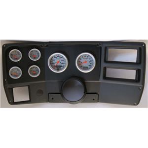 84-87 Chevy Truck Black Dash Carrier w/ Auto Meter Ultra Lite Electric Gauges