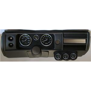 """68 Chevelle Black Dash Carrier w/ Auto Meter 5"""" Carbon Fiber Gauges No Astro"""