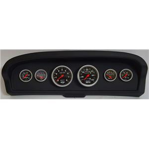 61-66 Ford Truck Black Dash Carrier w/Auto Meter Sport Comp Mechanical Gauges