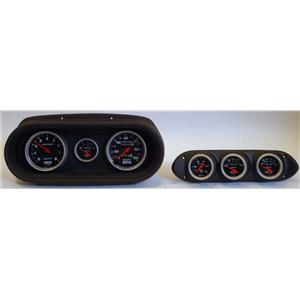 62-64 Nova Black Dash Carrier w/Auto Meter Sport Comp Mechanical Gauges