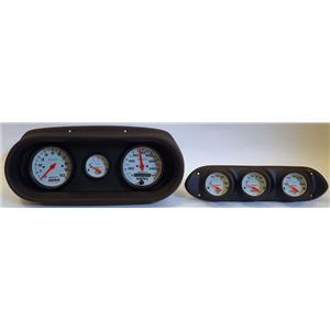 62-64 Nova Black Dash Carrier w/ Auto Meter Phantom Electric Gauges