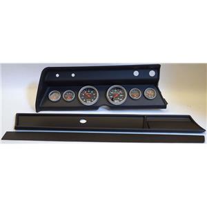 66 Chevelle Black Dash Carrier w/Auto Meter Sport Comp Mechanical Gauges
