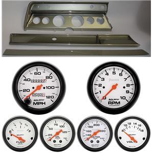 66 Chevelle Silver Dash Carrier w/ Auto Meter Phantom Mechanical Gauges