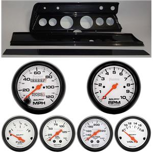 67 Chevelle Carbon Dash Carrier w/Auto Meter Phantom Mechanical Gauges