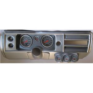 "68 Chevelle Silver Dash Carrier 5"" Ultra Lite Electric Gauges No Astro"