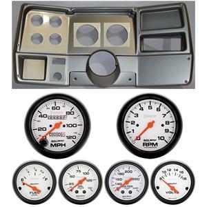 73-83 GM Truck Silver Dash Carrier w/Auto Meter Phantom Mechanical Gauges