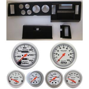 82-86 S10 Pickup Black Dash Carrier w/ Auto Meter Ultra Lite Mechanical Gauges