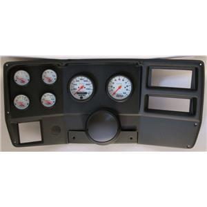 84-87 Chevy Truck Black Dash Carrier w/ Auto Meter Phantom Electric Gauges