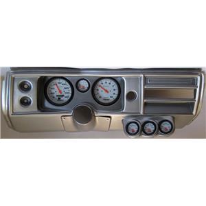 "68 Chevelle Silver Dash Carrier Auto Meter 5"" Phantom Electric Gauges No Astro"