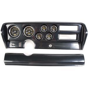 70-72 GTO Carbon Dash Carrier w/ Auto Meter Carbon Fiber Gauges
