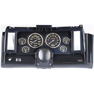"""69 Camaro Carbon Dash Carrier w/ Auto Meter Carbon 5"""" Gauges"""