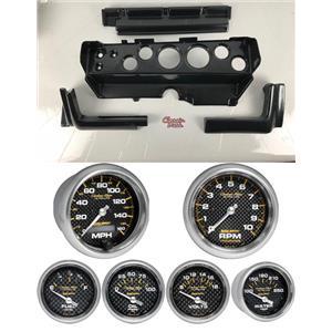 70-74 Mopar E-Body Carbon Dash Carrier w/ Auto Meter Carbon Gauges